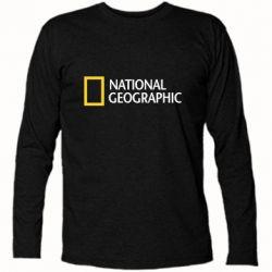 Футболка с длинным рукавом National Geographic logo