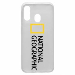 Чехол для Samsung A40 National Geographic logo