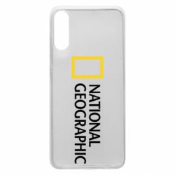 Чехол для Samsung A70 National Geographic logo