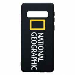 Чехол для Samsung S10 National Geographic logo