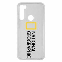 Чехол для Xiaomi Redmi Note 8 National Geographic logo