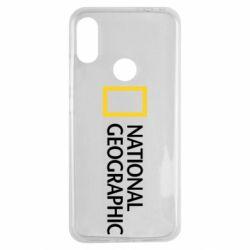 Чехол для Xiaomi Redmi Note 7 National Geographic logo