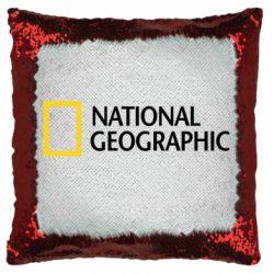 Подушка-хамелеон National Geographic logo