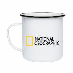 Кружка емальована National Geographic logo