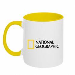Кружка двоколірна 320ml National Geographic logo