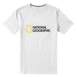 Мужская стрейчевая футболка National Geographic logo