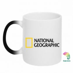 Кружка-хамелеон National Geographic logo