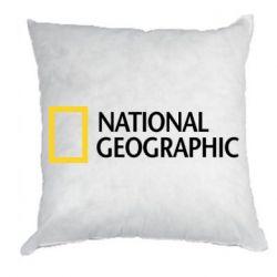 Подушка National Geographic logo