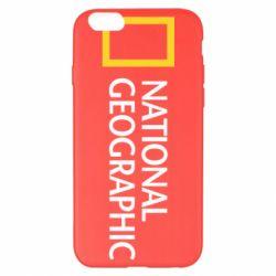 Чехол для iPhone 6 Plus/6S Plus National Geographic logo