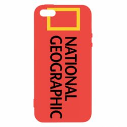 Чохол для iphone 5/5S/SE National Geographic logo