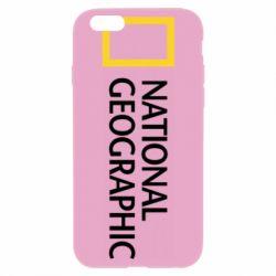 Чехол для iPhone 6/6S National Geographic logo