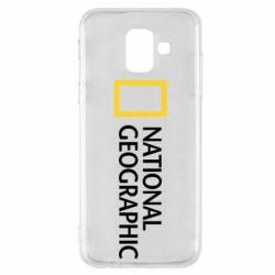 Чехол для Samsung A6 2018 National Geographic logo