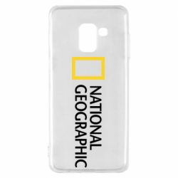 Чехол для Samsung A8 2018 National Geographic logo