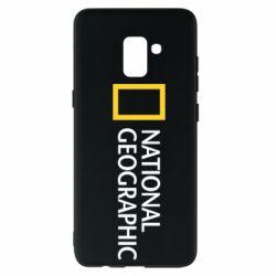 Чехол для Samsung A8+ 2018 National Geographic logo