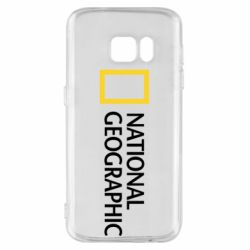 Чехол для Samsung S7 National Geographic logo