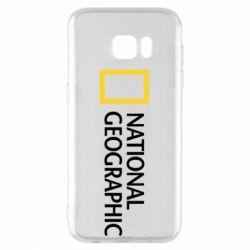 Чехол для Samsung S7 EDGE National Geographic logo