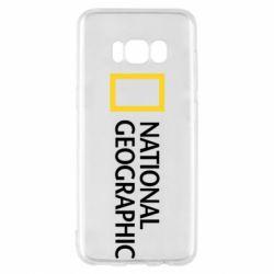 Чехол для Samsung S8 National Geographic logo