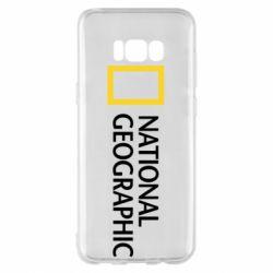 Чехол для Samsung S8+ National Geographic logo