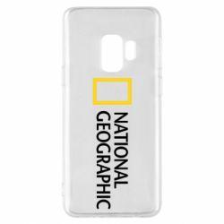 Чехол для Samsung S9 National Geographic logo