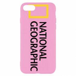Чохол для iPhone 8 National Geographic logo