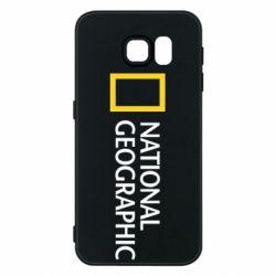 Чехол для Samsung S6 National Geographic logo