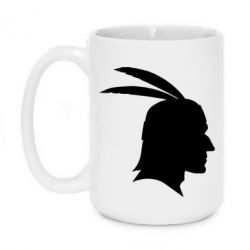 Кружка 420ml Native American two feathers