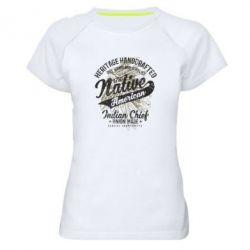 Жіноча спортивна футболка Native American