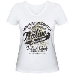 Жіноча футболка з V-подібним вирізом Native American