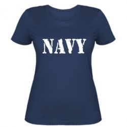 Женская футболка NAVY - FatLine