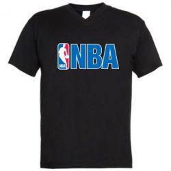 Мужская футболка  с V-образным вырезом NBA Logo