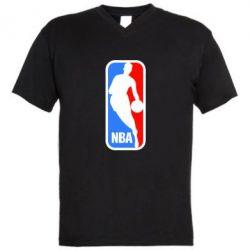 Мужская футболка  с V-образным вырезом NBA - FatLine