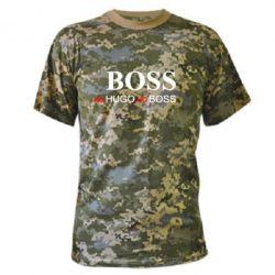 Камуфляжная футболка Не Hugo, но Boss - FatLine