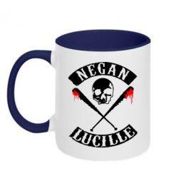 Кружка двухцветная Negan Lucille