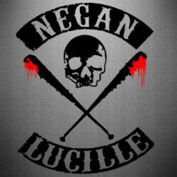 Наклейка Negan Lucille