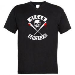 Мужская футболка  с V-образным вырезом Negan Lucille