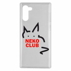 Чохол для Samsung Note 10 Neko Club