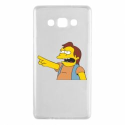 Чехол для Samsung A7 2015 Нельсон Симпсон - FatLine