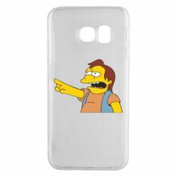 Чехол для Samsung S6 EDGE Нельсон Симпсон - FatLine