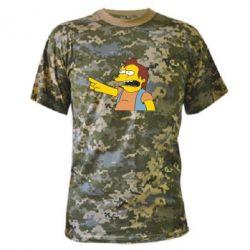 Камуфляжная футболка Нельсон Симпсон - FatLine
