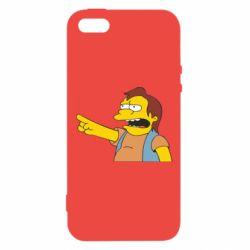 Чехол для iPhone5/5S/SE Нельсон Симпсон - FatLine