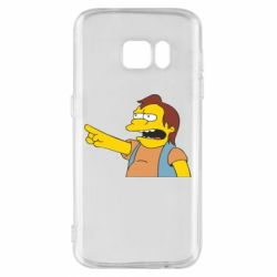 Чехол для Samsung S7 Нельсон Симпсон - FatLine