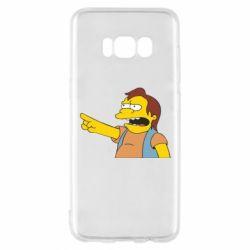 Чехол для Samsung S8 Нельсон Симпсон - FatLine