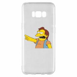 Чехол для Samsung S8+ Нельсон Симпсон - FatLine