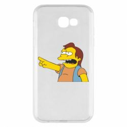 Чехол для Samsung A7 2017 Нельсон Симпсон - FatLine