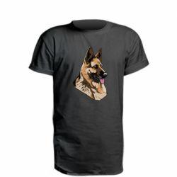 Удлиненная футболка Немецкая овчарка