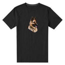 Мужская стрейчевая футболка Немецкая овчарка