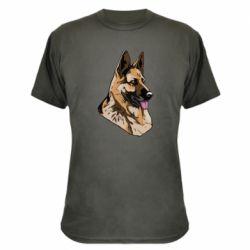 Камуфляжная футболка Немецкая овчарка