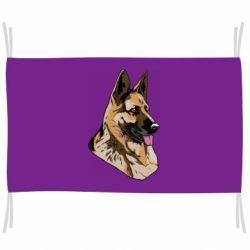Флаг Немецкая овчарка