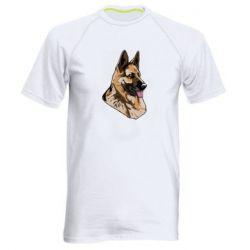 Мужская спортивная футболка Немецкая овчарка