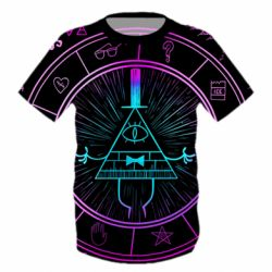 Дитяча 3D футболка Neon Bill Cipher - FatLine